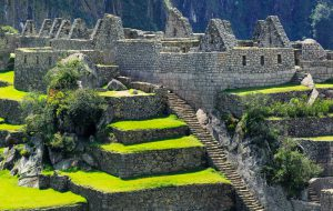 Architectural detail of Machu Picchu, This is the Industrial Complex area of the city.